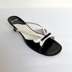 Vintage MILA PAOLI Black White Maryjane Mules